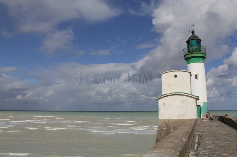 The lighthouse in le treport, normandy France royalty free stock images