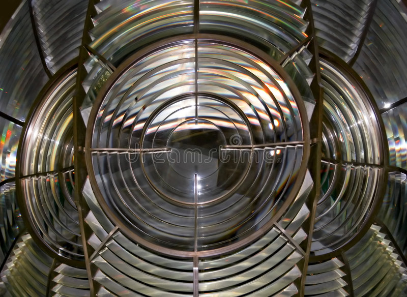Lighthouse lens. A close up shot of Lighthouse lens royalty free stock photos