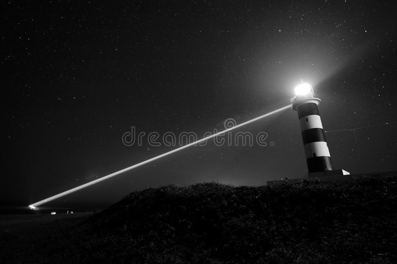 Lighthouse with light ray
