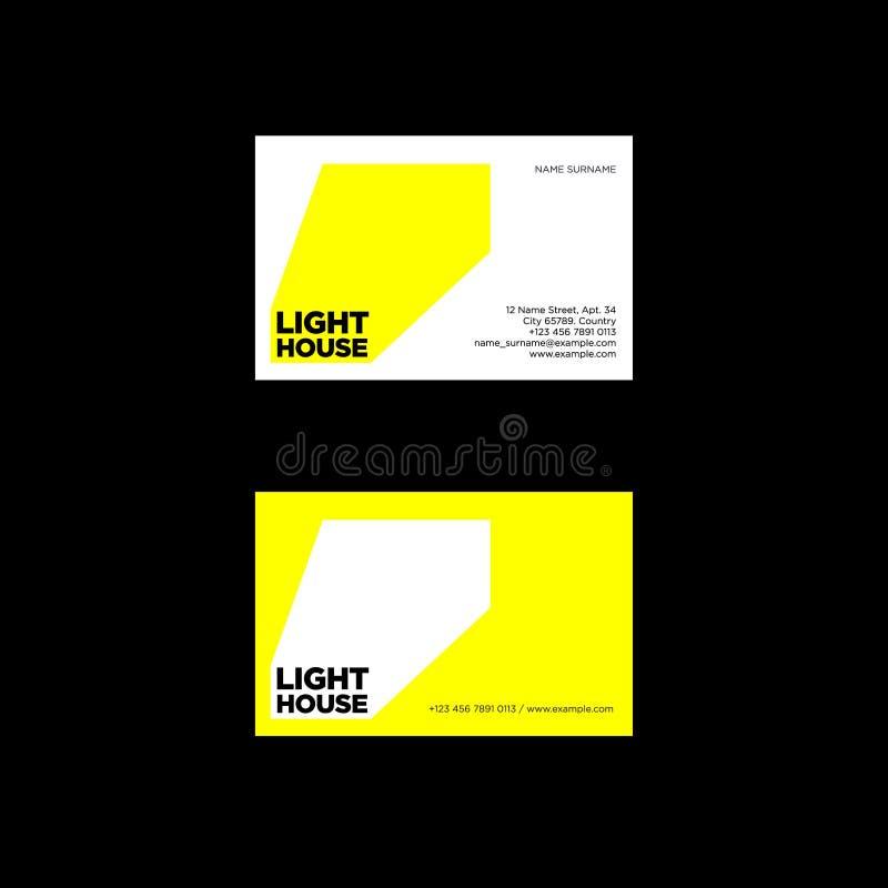 Lighthouse Logo. Ray Of Light Emblem. Identity. Business Card. Stock ...