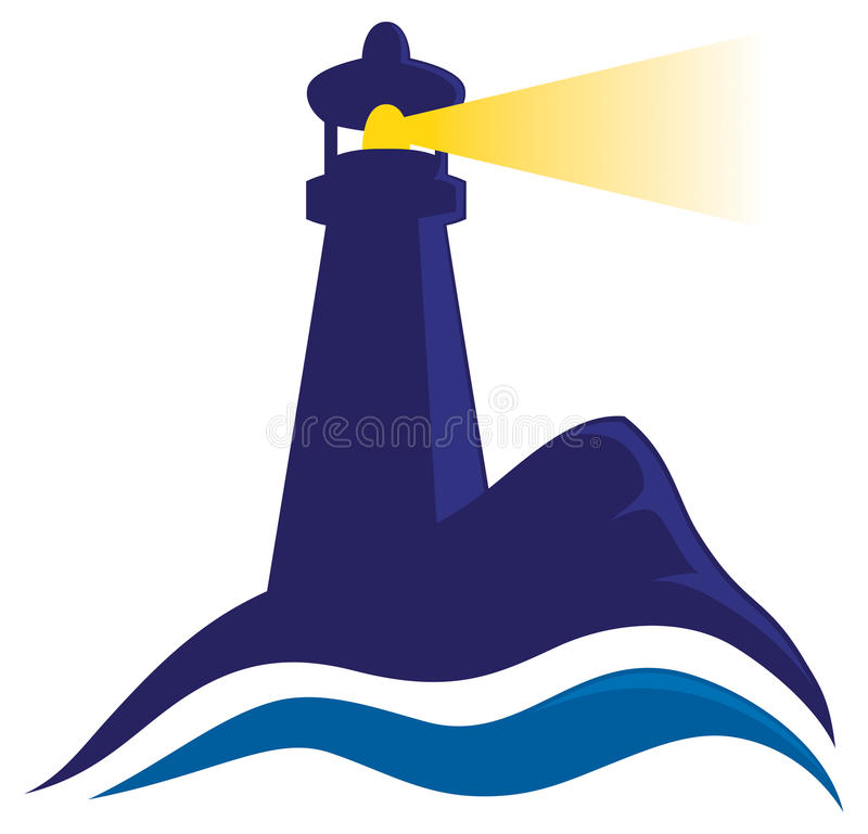 Lighthouse logo. A logo showing a lighthouse shining its light