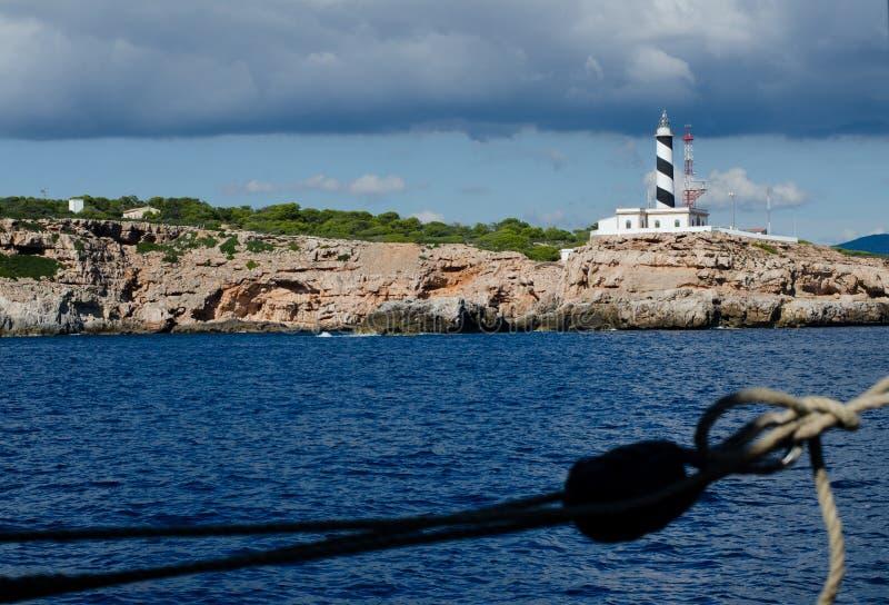 Lighthouse on Mallorca island royalty free stock images