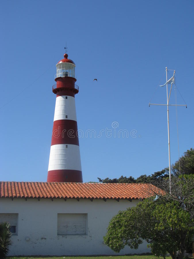 Lighthouse of Mar del Plata. General view of the Lighthouse of Mar del Plata, Buenos Aires, Argentina royalty free stock image