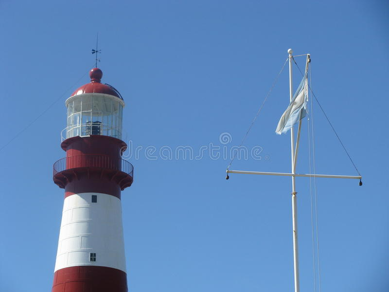 Lighthouse of Mar del Plata. General view of the Lighthouse of Mar del Plata, Buenos Aires, Argentina stock image
