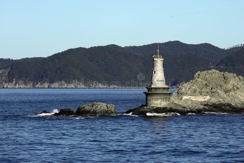 Lighthouse Maritime dangerous rocky Cape stock photo