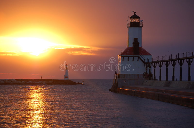 Download Lighthouse Michigan City stock image. Image of nature - 4071113