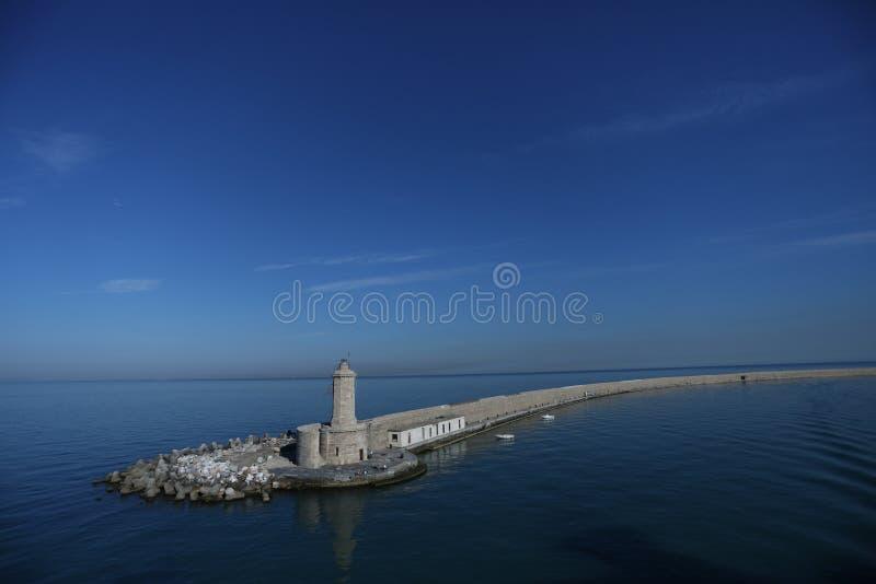 Lighthouse, blue sky royalty free stock image