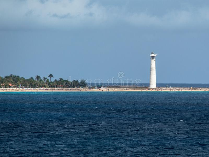 Lighthouse in Morro Jable. royalty free stock photography