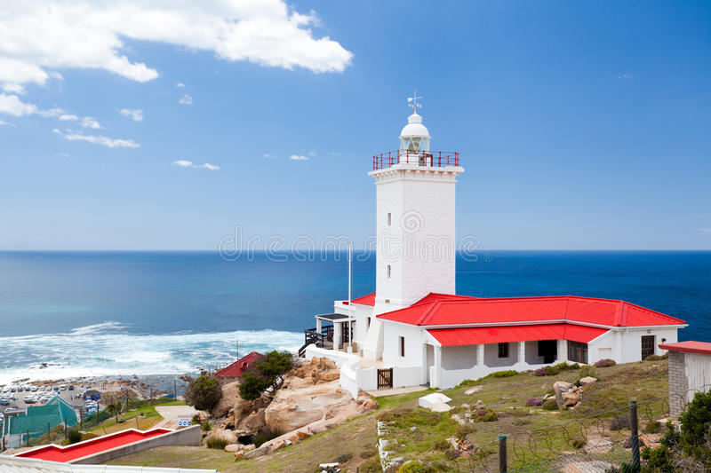 Lighthouse in Mossel bay stock photography