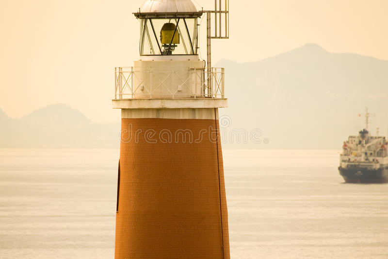 Lighthouse at Naples royalty free stock image