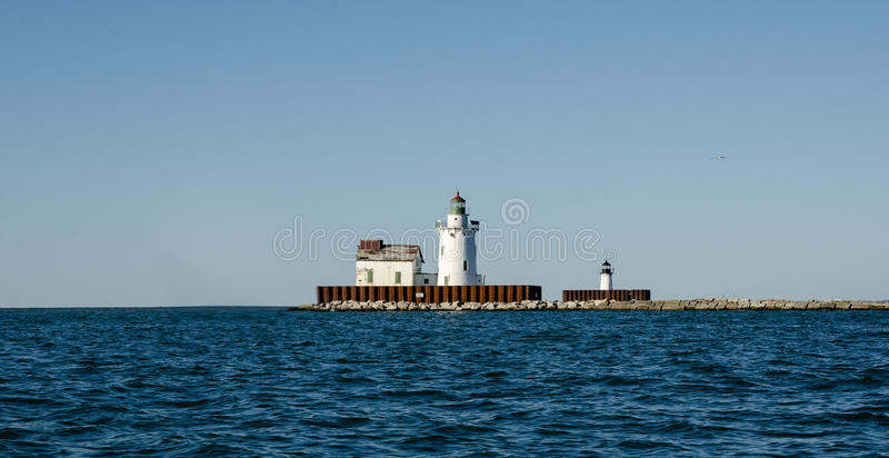 Lighthouse. Located in Ohio, near Cleveland stock images