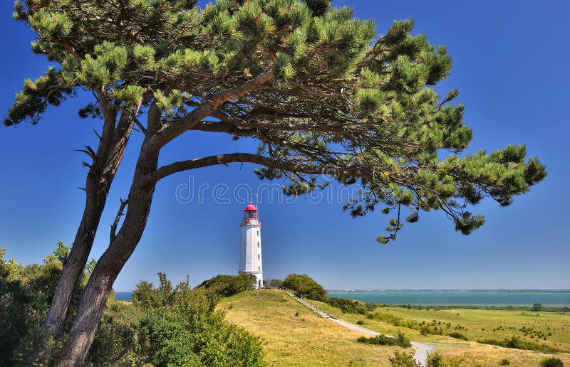Lighthouse near Kloster (Island Hiddensee - Germany). HDR image royalty free stock images