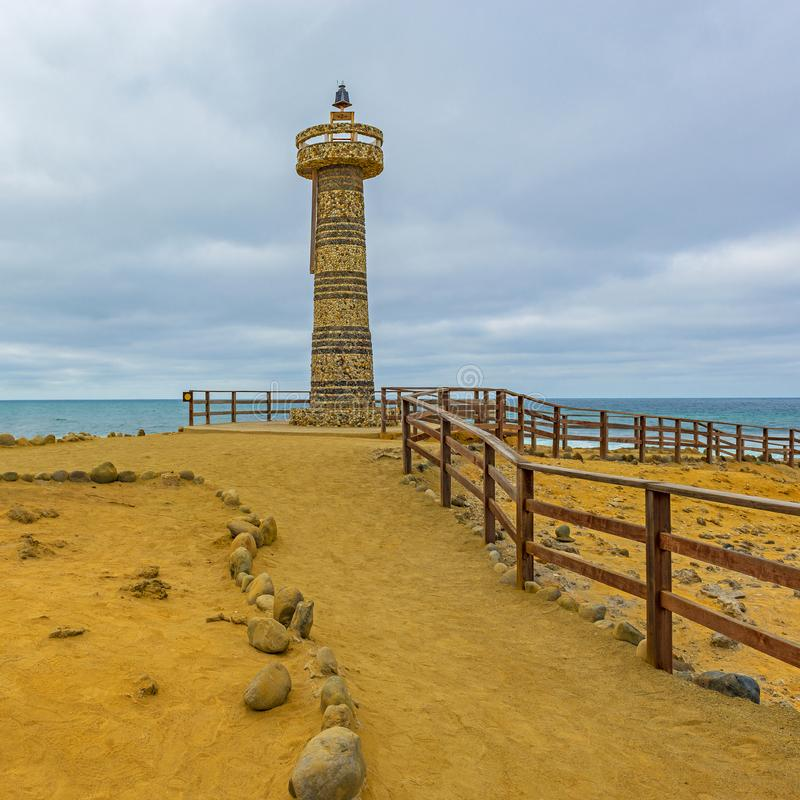 Lighthouse near Salinas City, Ecuador royalty free stock images