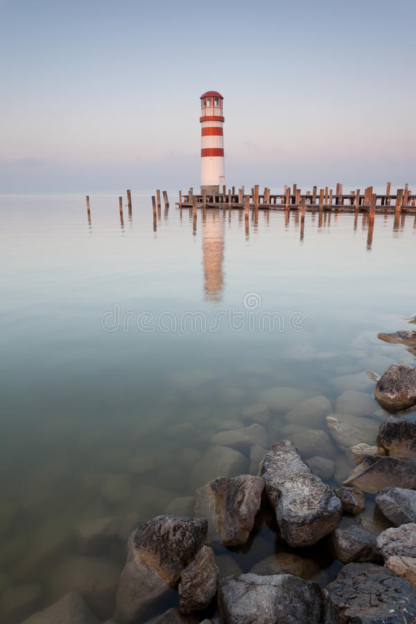 Neusiedlersee österreich  Lighthouse On Neusiedler See Stock Photo - Image of dawn ...
