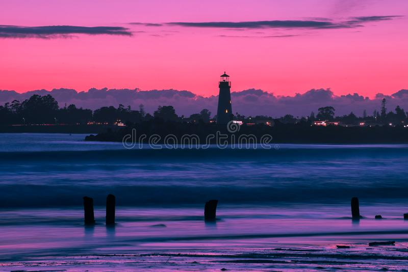 Lighthouse during Night royalty free stock image