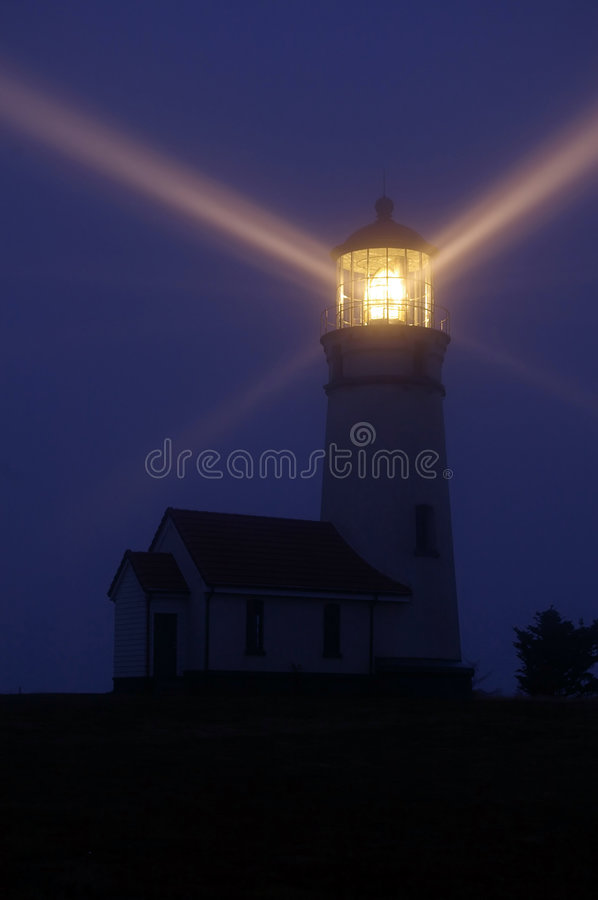 Download Lighthouse at Night stock image. Image of dusk, light - 3975509