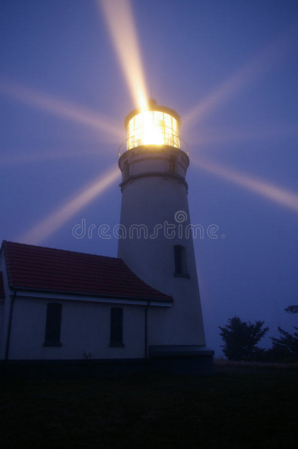 Lighthouse at Night royalty free stock photo