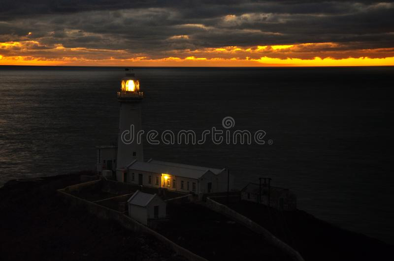 Lighthouse in north Wales. Night photography of a Lighthouse in north Wales stock image