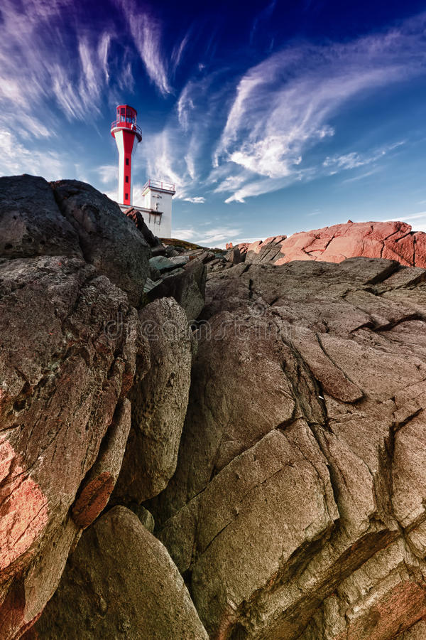 Lighthouse in Nova Scotia - Yarmouth royalty free stock images