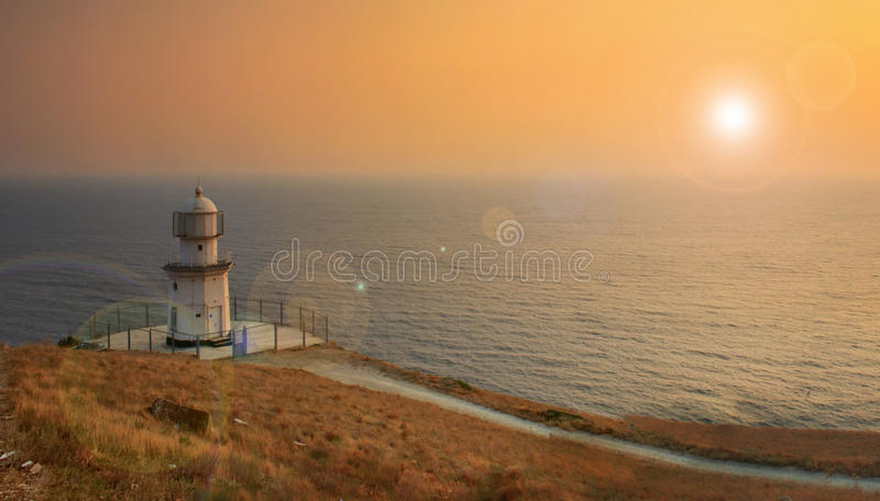 Lighthouse on the ocean beach