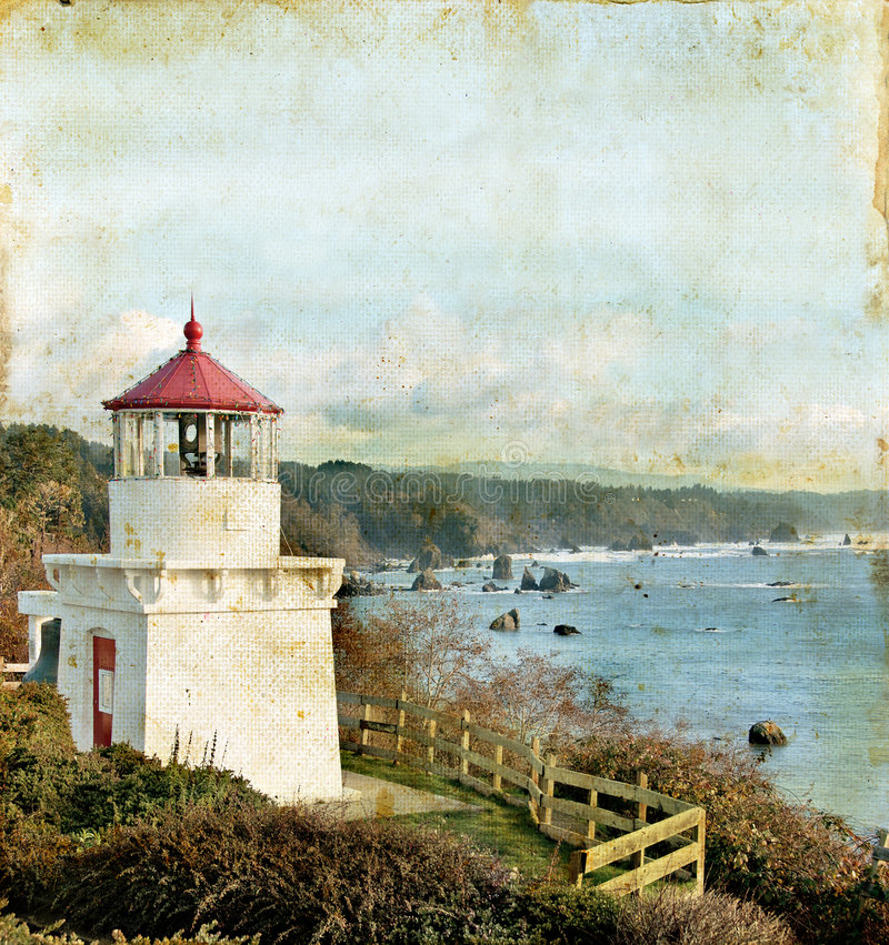 Free Lighthouse Onb Grunge Background Stock Images - 6799374
