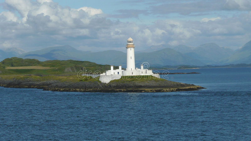 Lighthouse Outside Oban Royalty Free Stock Photo