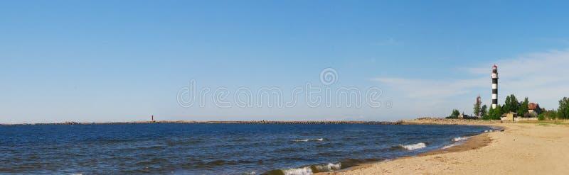 Lighthouse panorama royalty free stock photo