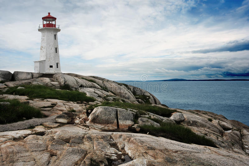Download Lighthouse on Peggy's Cove stock image. Image of coast - 18057167