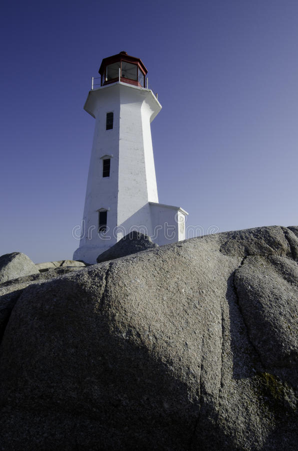 Lighthouse At Peggy S Cove, Nova Scotia Stock Images
