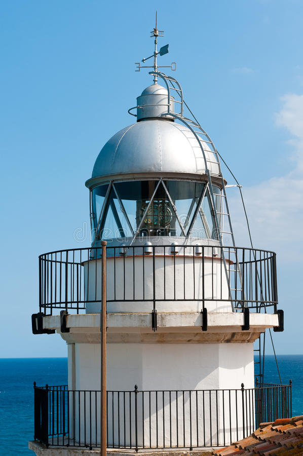 Download Lighthouse in Peniscola stock photo. Image of navigation - 26066118