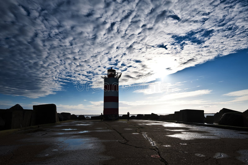 Download Lighthouse on pier stock image. Image of harbor, harbour - 8218897