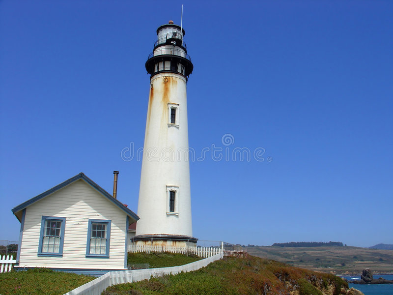 Download Lighthouse At Pigeon Point, California Stock Image - Image of navigation, comfort: 461199