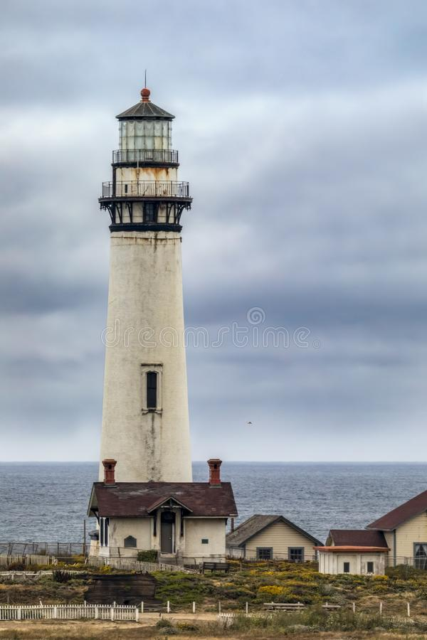 The Lighthouse at Pigeon Point - California stock image