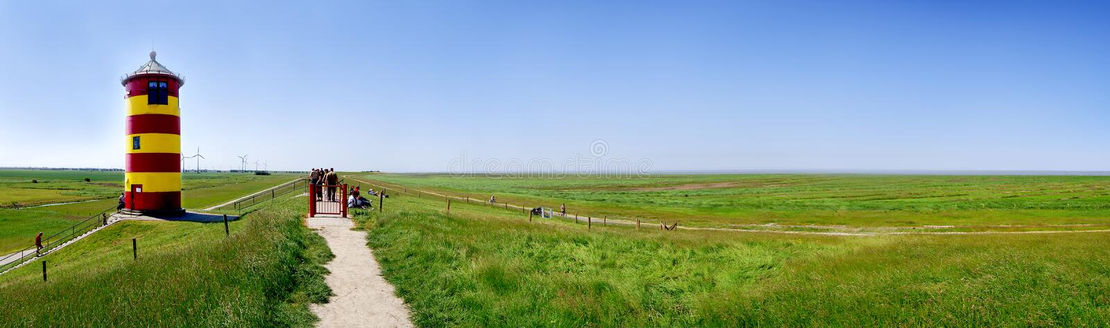 The lighthouse from pilsum northern germany royalty free stock photo