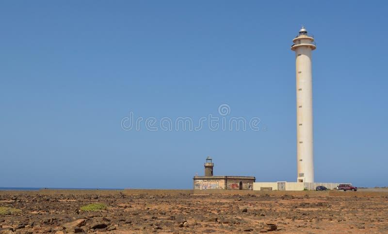 Lighthouse at Playa Blanca royalty free stock images
