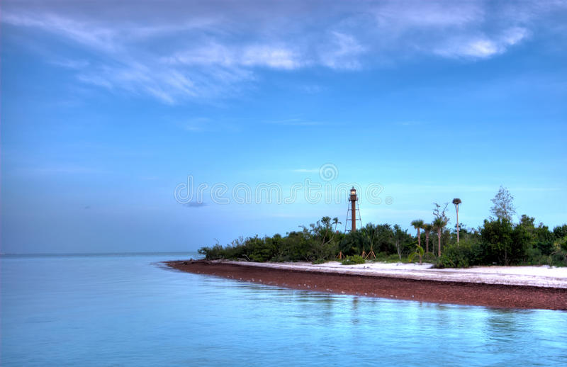 Lighthouse Point. At Sanibel in Florida, this Lighthouse is an historical landmark in Sabiel stock photo