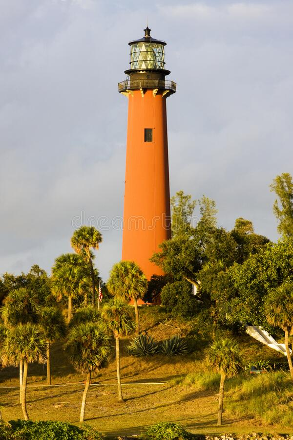 Lighthouse, Ponce Inlet, Florida, USA royalty free stock images