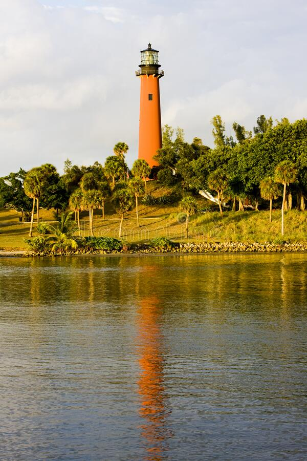 Lighthouse, Ponce Inlet, Florida, USA royalty free stock photography