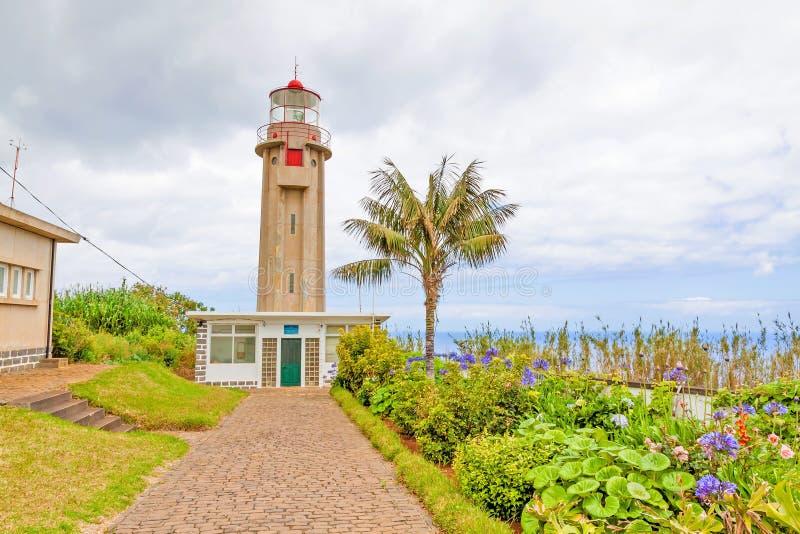 Lighthouse Ponta DE Sao Jorge, Madera stock foto