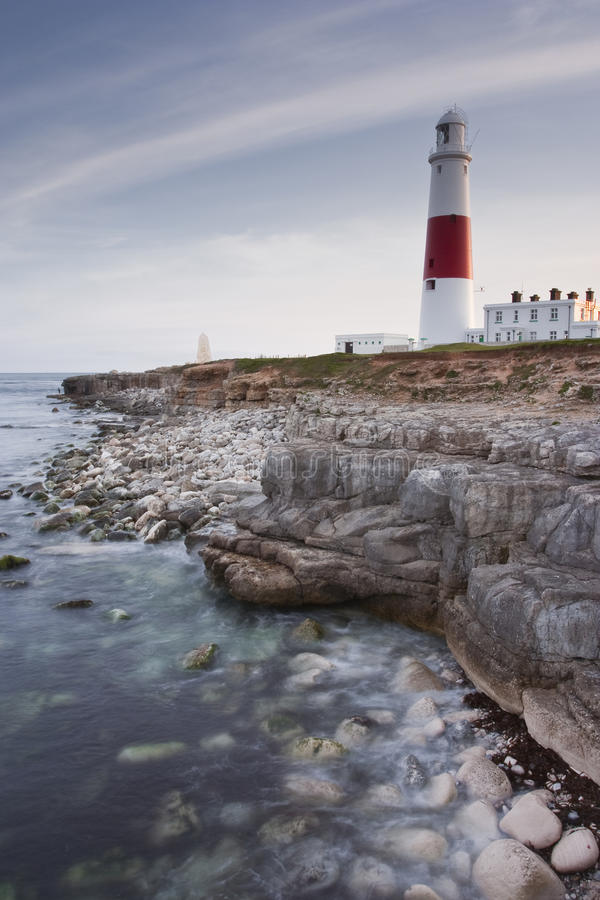 The lighthouse at Portland Bill. royalty free stock photography