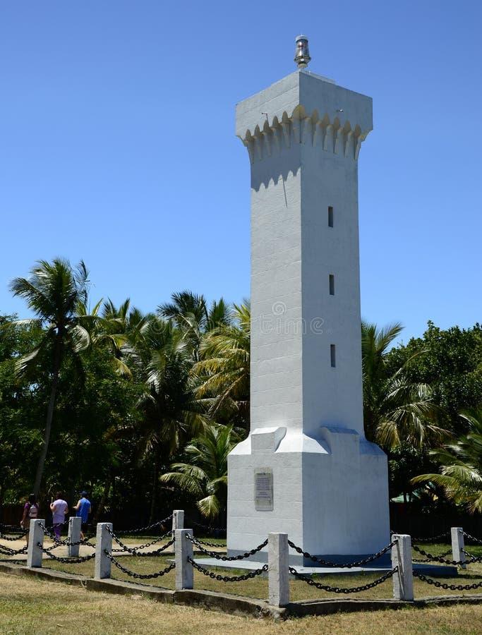 Lighthouse in Porto Seguro Brazil stock photography