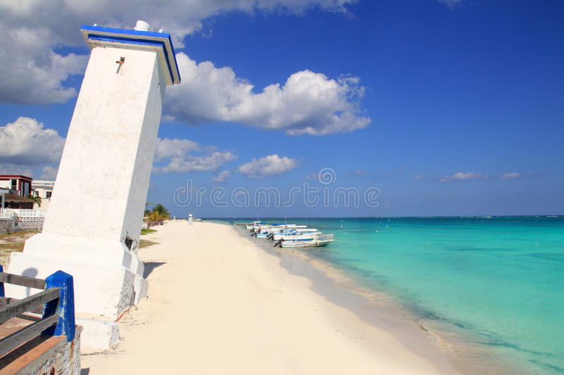 Download Lighthouse Puerto Morelos Hurricane Inclined Stock Image - Image: 20986023