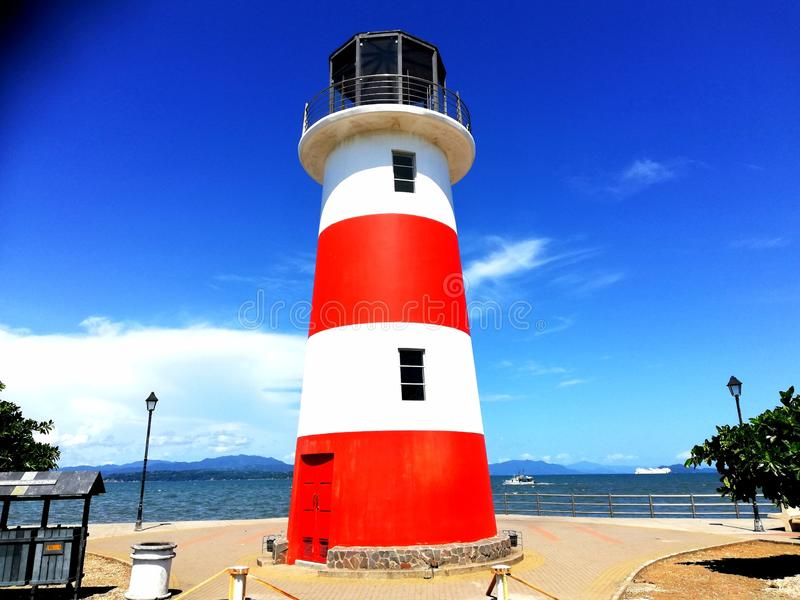 Lighthouse. Puntarenas.Costa Rica. Tourism royalty free stock image