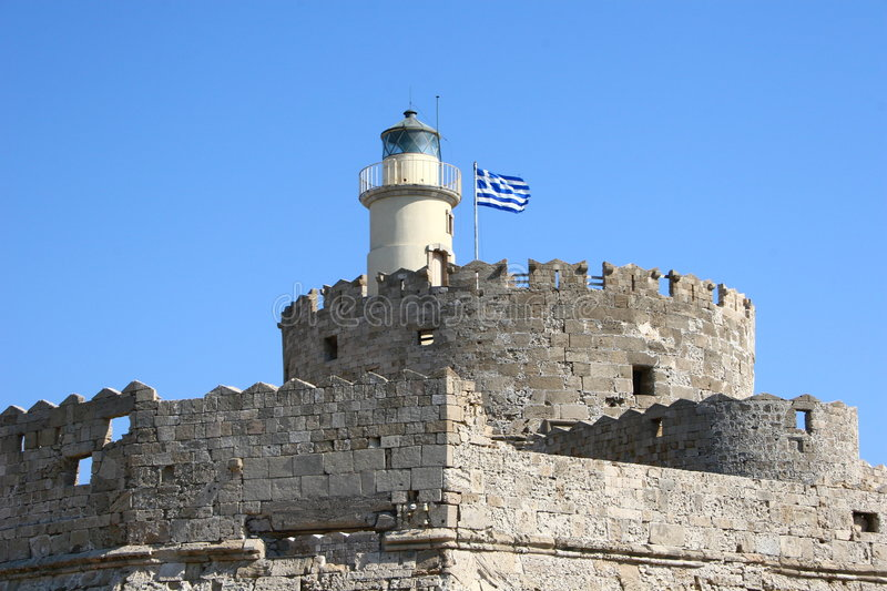 Download Lighthouse In Rhodes, Greece Stock Image - Image: 6433791