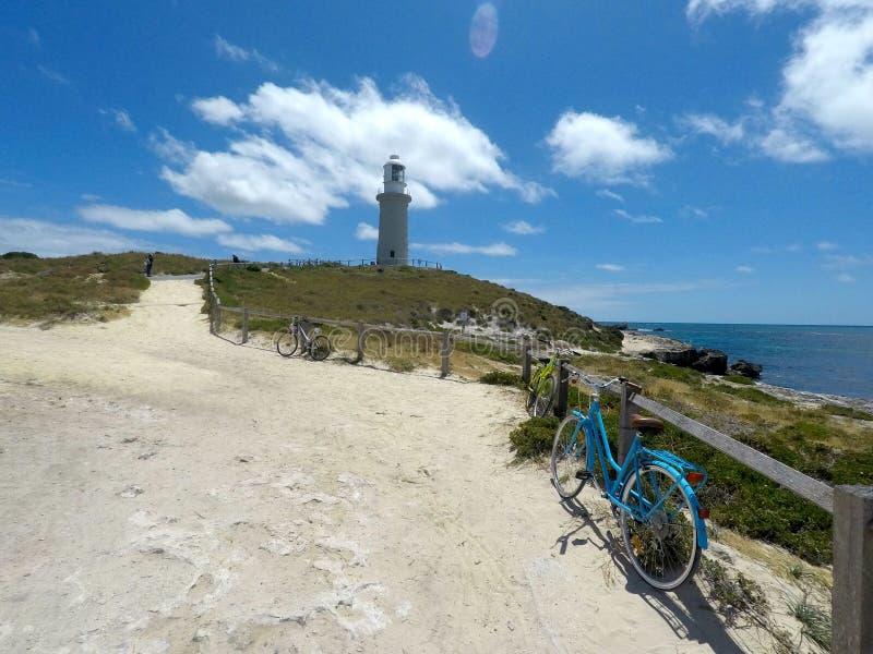 Lighthouse on Rottnest Island in western Australia stock photo