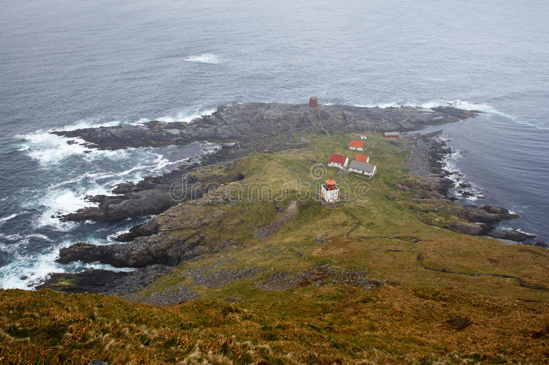 Lighthouse in Runde, Norway royalty free stock photo