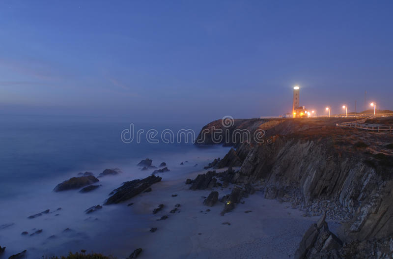 Lighthouse S.Pedro de Moel royalty free stock photo