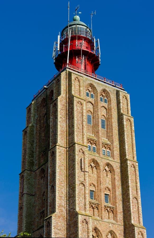 lighthouse& x27; s szczegół, Westkapelle, Zeeland, holandie zdjęcia stock
