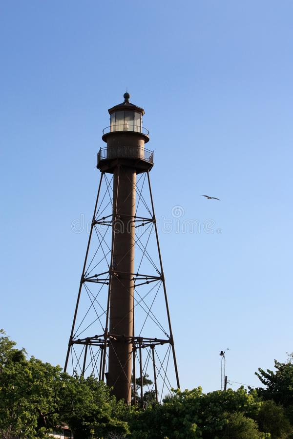 Lighthouse in Sanibel Island Florida royalty free stock image