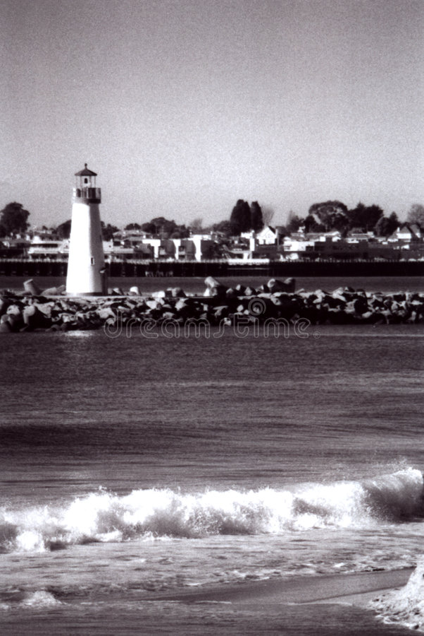 Lighthouse in Santa Cruz royalty free stock image